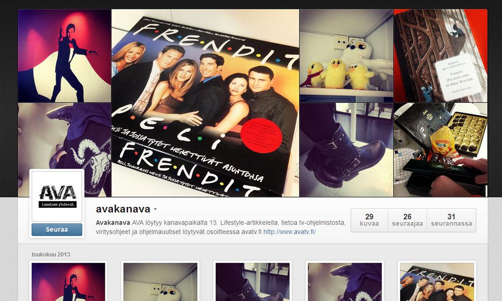 AVA Instagramissa. Kuvakaappaus Instagram.comista.